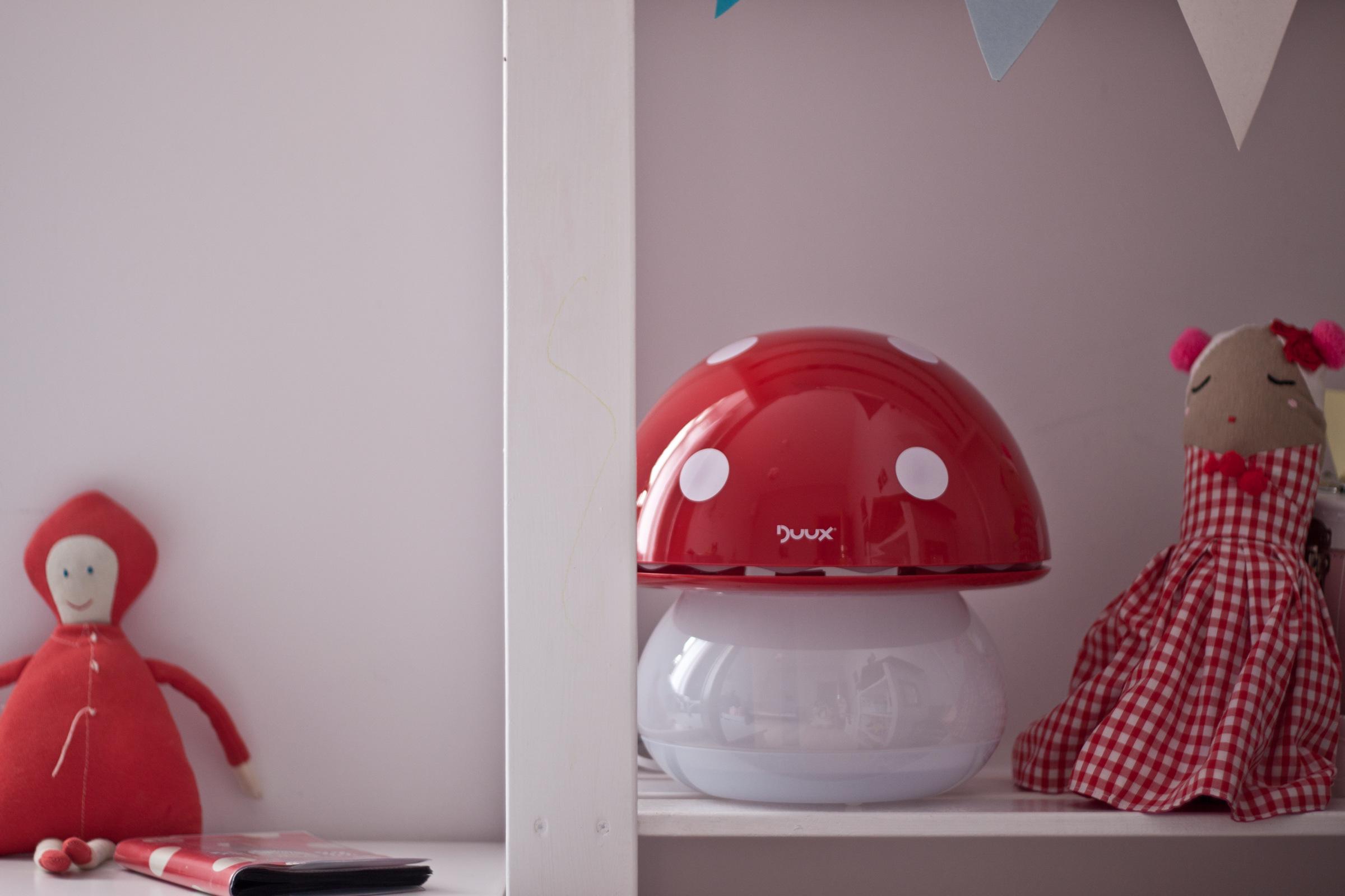 nawilzacz powietrza grzybek duux dla dzieci